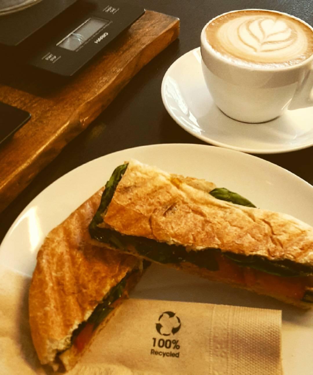 Sandwich im Kaffeehandwerk